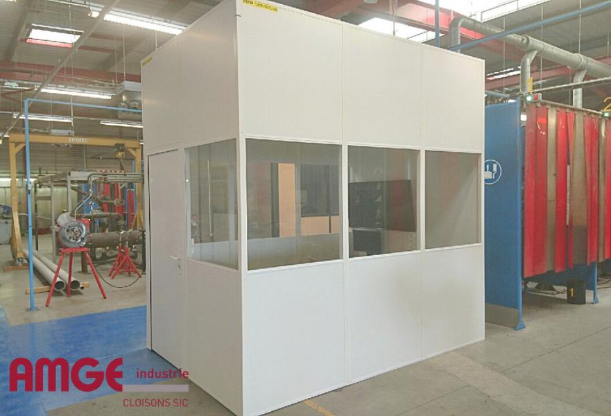 cabine modulaire atelier économique par AMGE industrie