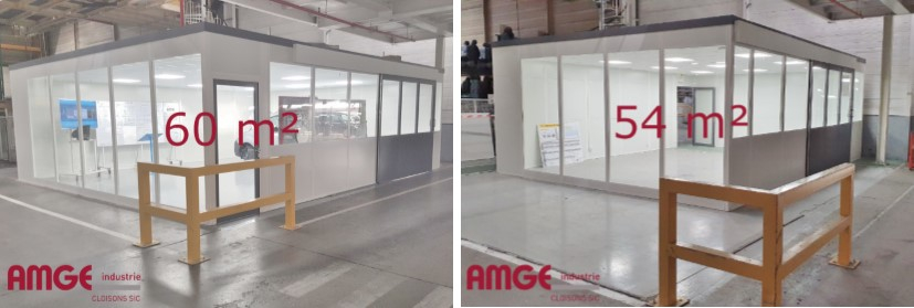modification de cabine modulaire AMGE industrie