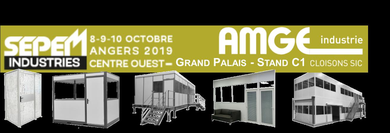 Nous présentons nos solutions de cabines modulaires et bureaux au salon SEPEM de Angers