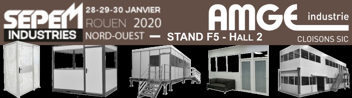 fabricant de cloisons pour l'industrie l'équipe AMGE industrie sera présente sur la salon SEPEM de Rouen 2020