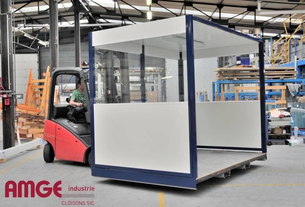 Construction modulaire montée dans les ateliers AMGE industrie