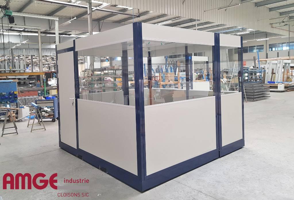 Cabine palettisable en modules préfabriqués AMGE industrie