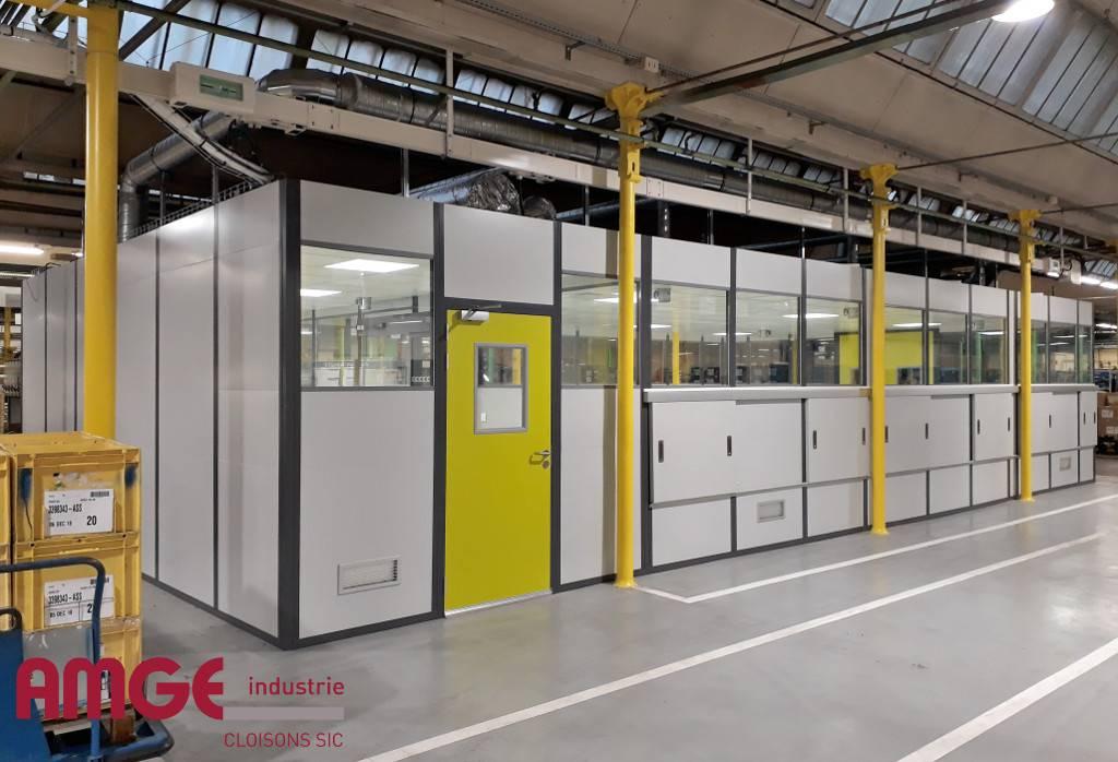 cabine d'atelier conçue et fabriquée en Normandie par AMGE industrie
