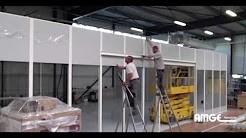 cabine réalisée à l'aide de cloisons amovibles AMGE industrie