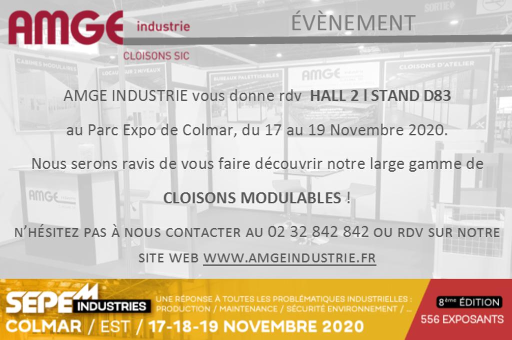 Invitation AMGE industrie fabricant de cloisons et aménageur d'espaces SEPEM industries Colmar