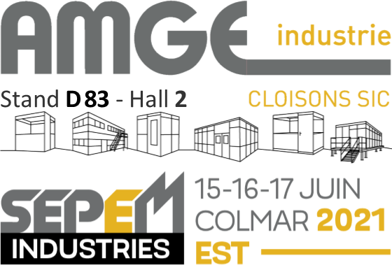 Fabricant installateur de cloisons et cabines AMGE industrie participe au salon SEPEM industries de Colmar