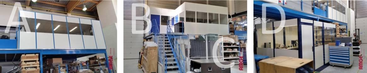 cloisons et cabines modulaires sur mesure