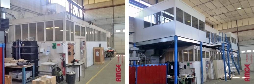cloisons modulaires sur plateforme AMGE industrie