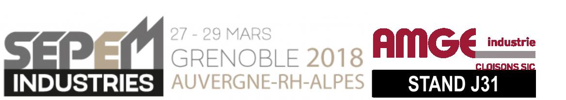 Fabricant et installateur de cloisons amovibles pour les locaux professionnels, AMGE industrie est présent au SEPEM industries de Grenoble