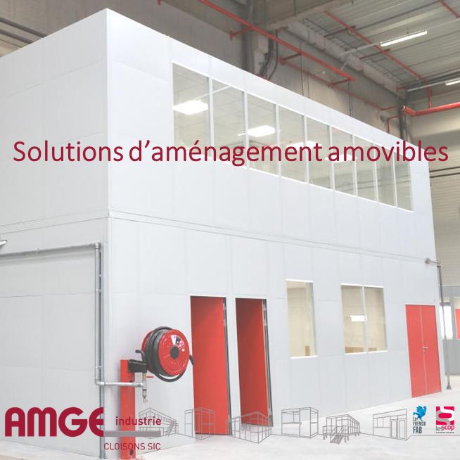 Solutions d'aménagement amovibles AMGE industrie