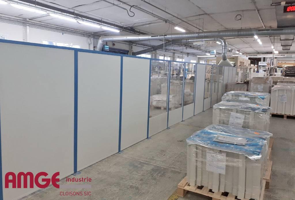 cloison amovible pour l'aménagement intérieur par AMGE industrie