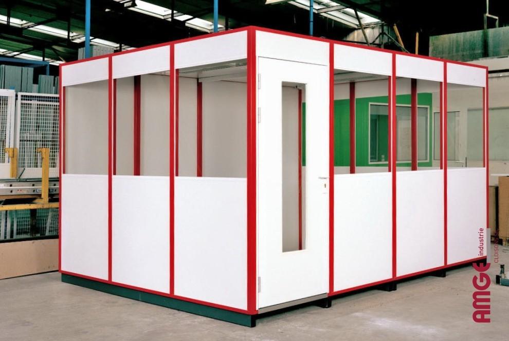 AMGE industrie cabine d'atelier simple paroi