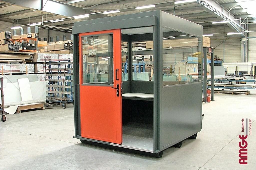 AMGE industrie cabine d'atelier isolée en acier