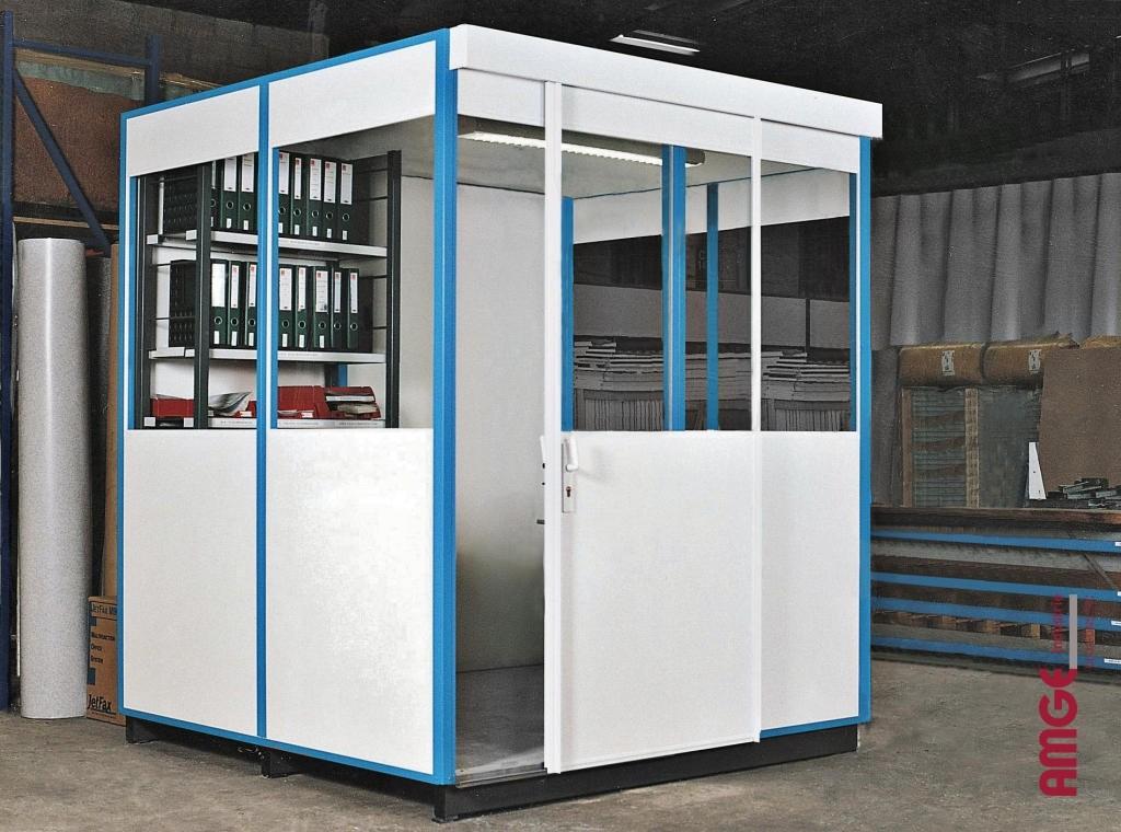 AMGE industrie cabine simple paroi en mélaminé
