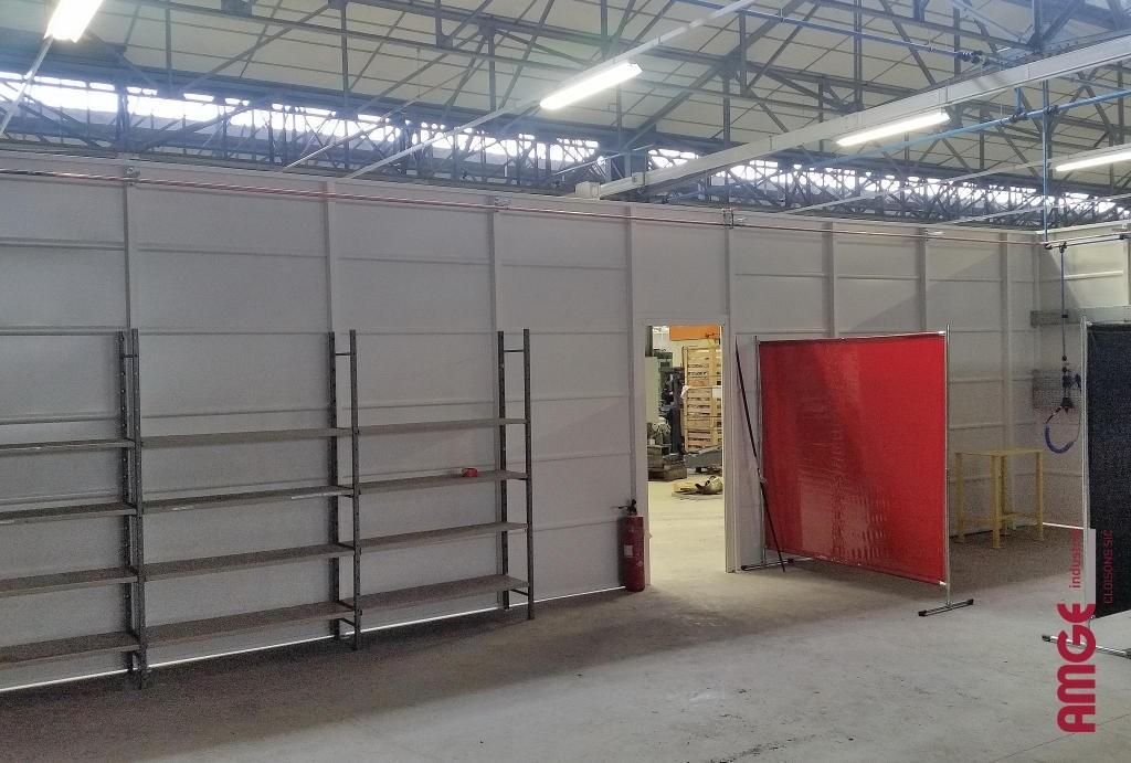 AMGE industrie cloison d'atelier autoportante en acier
