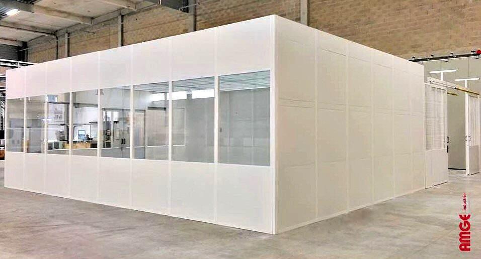 AMGE industrie cloisons d'atelier semi-vitrées et pleines