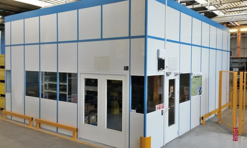 AMGEindustrie cabine simple paroi mélaminée