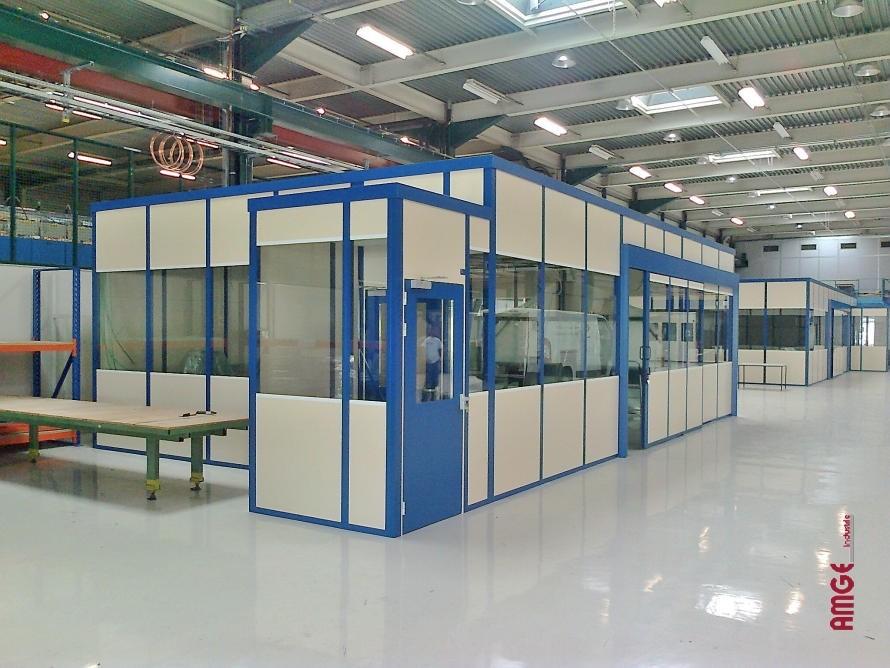 AMGEindustrie ensemble cabines double paroi acier