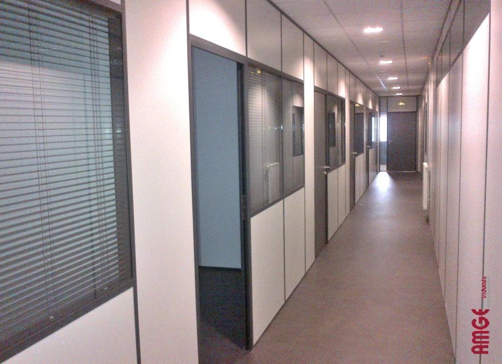 AMGEindustrie cloison de bureau semi vitrée UNIVERSALIA
