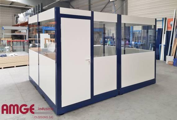 cabine palettisable isolée pour créer des bureaux sans travaux