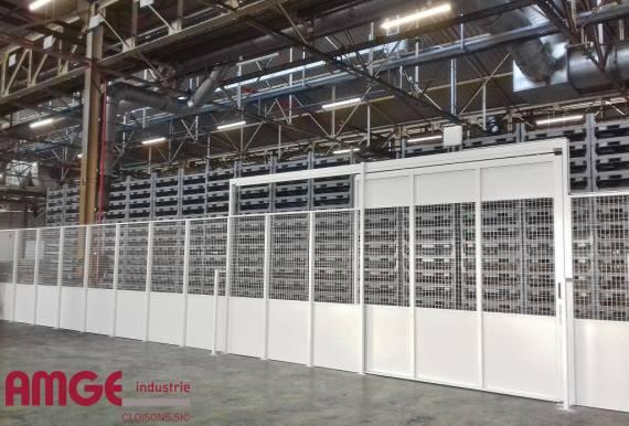cloisons modulaires pour aménager les ateliers