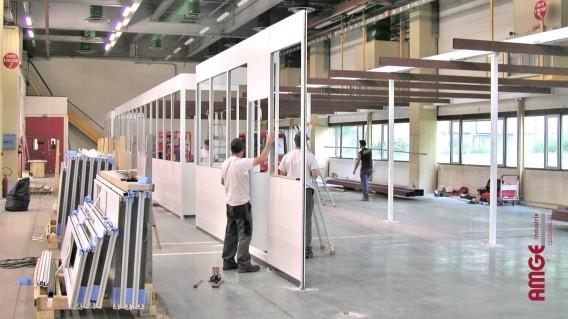 Cloisons modulaires livrées en kit par AMGE industrie